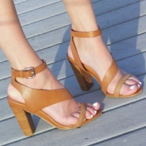 Tan Strappy Sandals size 8
